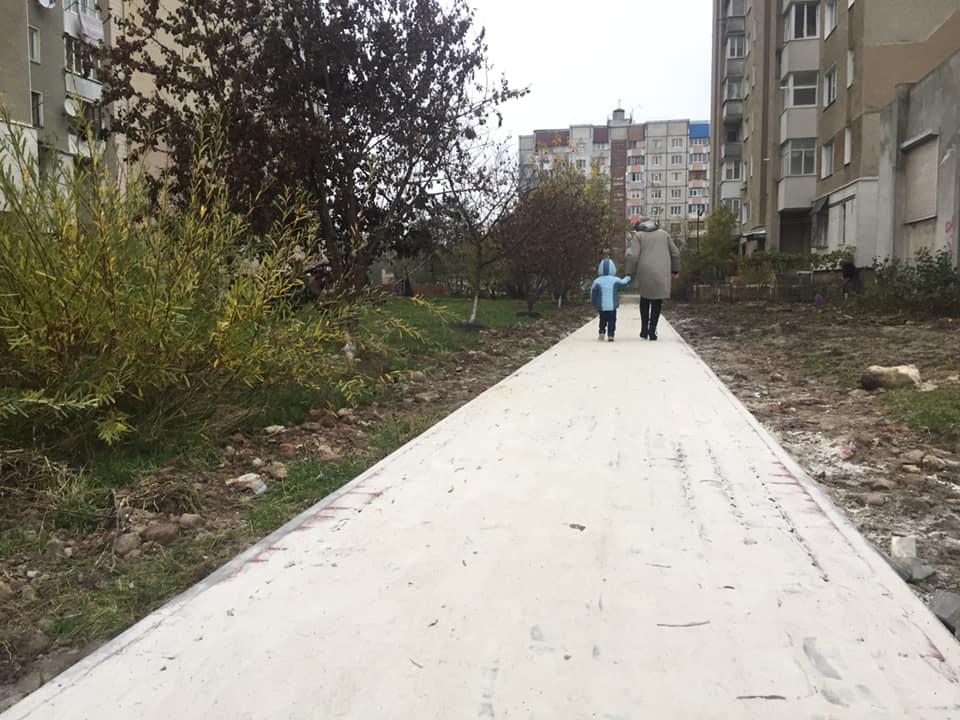Була ледь не дика природа: прибудинкову територію облаштовують на Молодіжній (ФОТО)