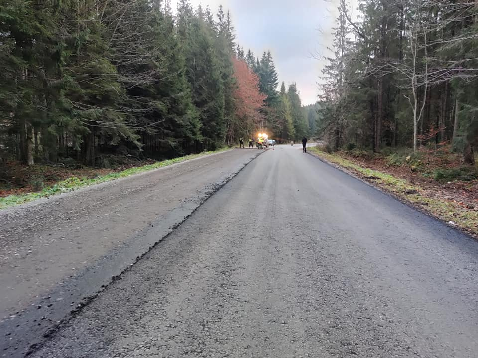 Дорогу Долина-Хуст почали асфальтувати (ФОТО)