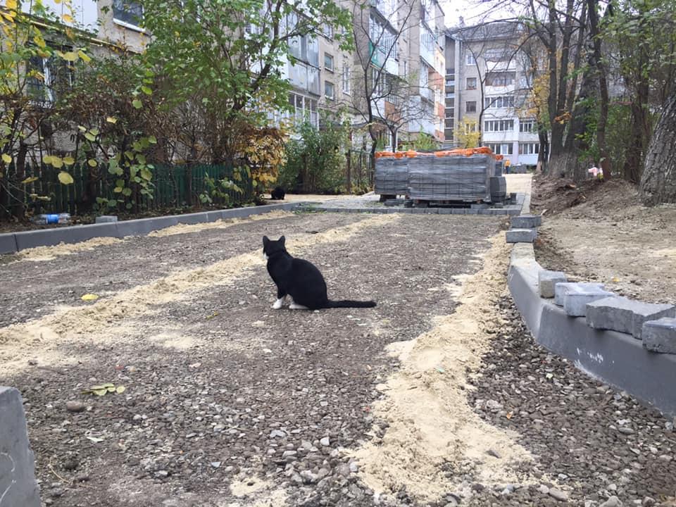 Прибудинкова зона на Хмельницького набуває оновлених обрисів (ФОТО)