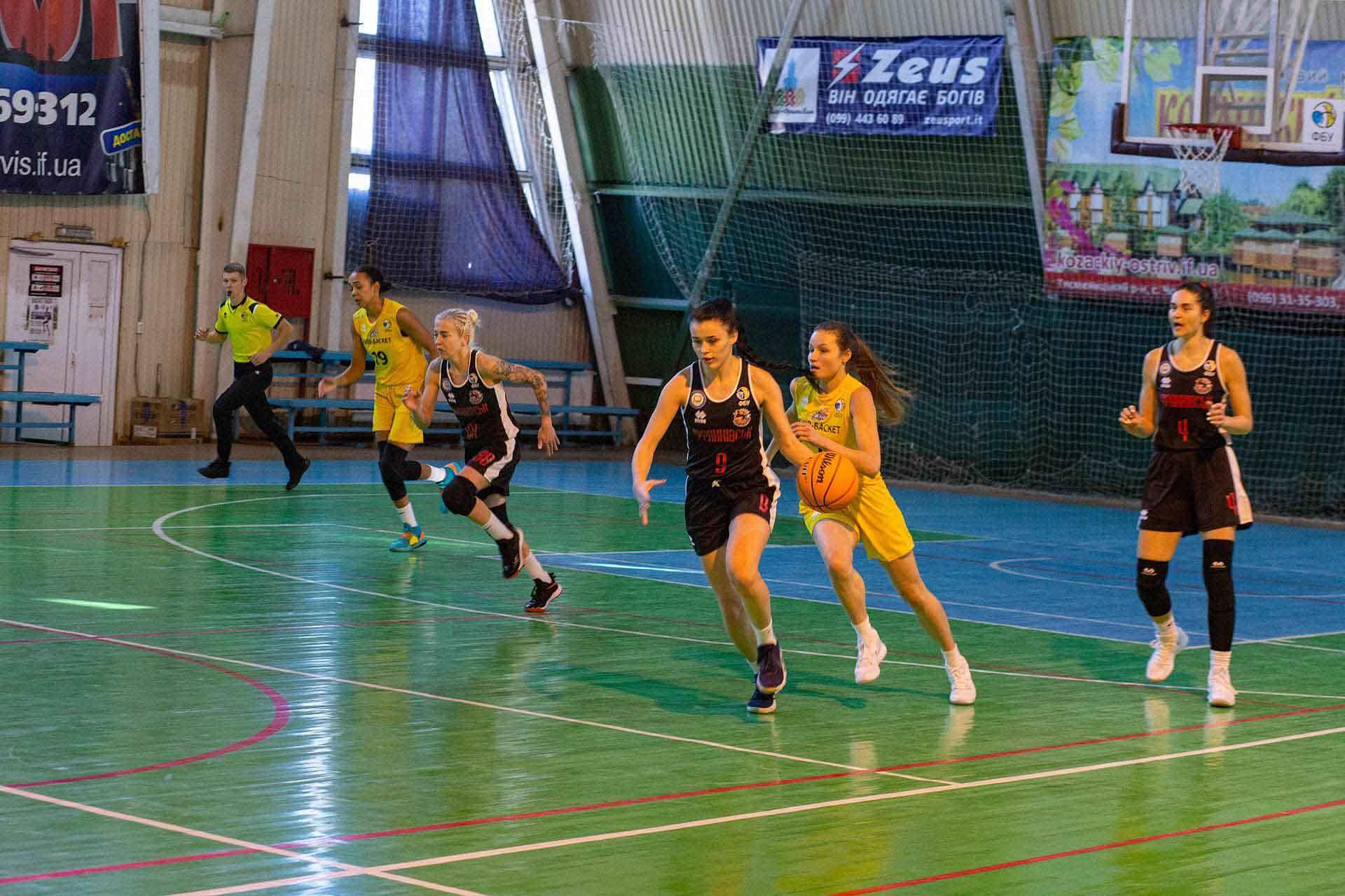 Франківські баскетболістки вдома програли суперницям з Києва