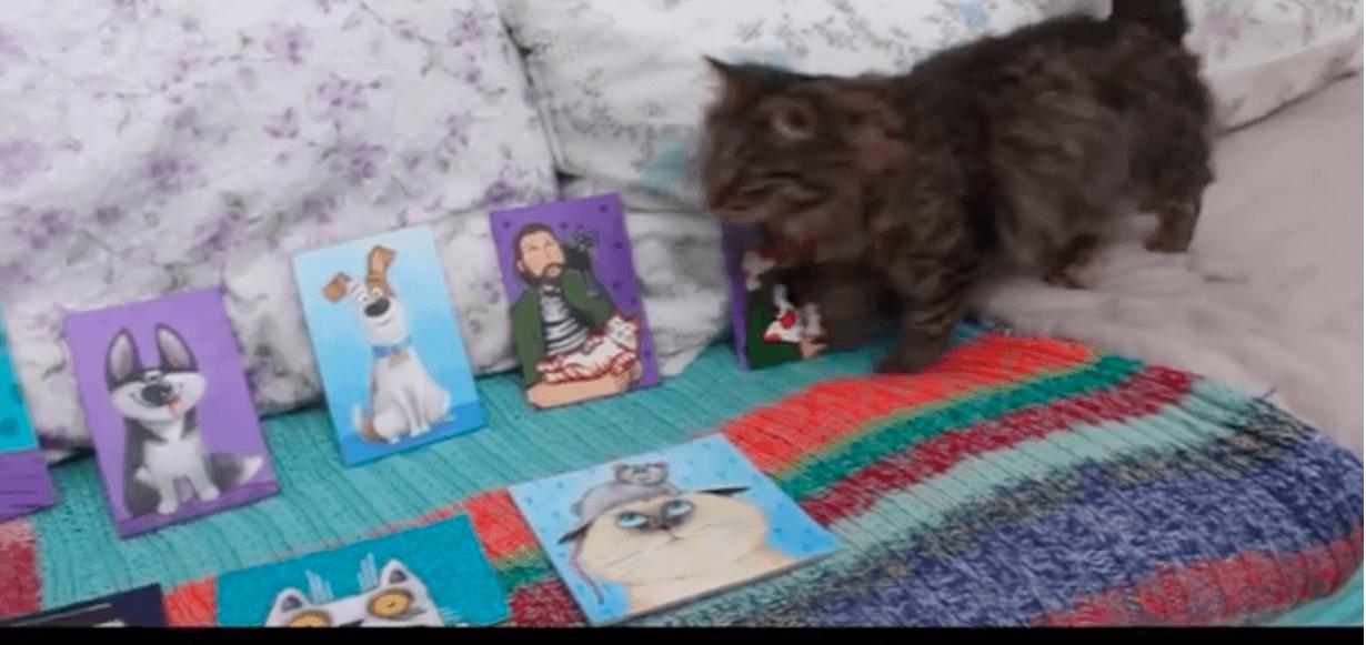 Франківська художниця за допомогою картин рятує життя безпритульним тваринам (ВІДЕО)
