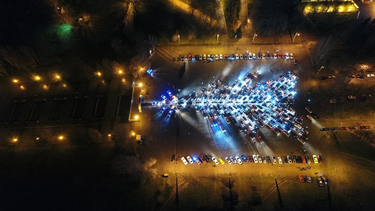 У Харкові засяяла найбільша в Україні автоялинка (ФОТО)