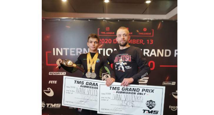 Вітенко – монстріла. Юний іванофранківець переміг на турнірі з джиу-джитсу (ВІДЕО)