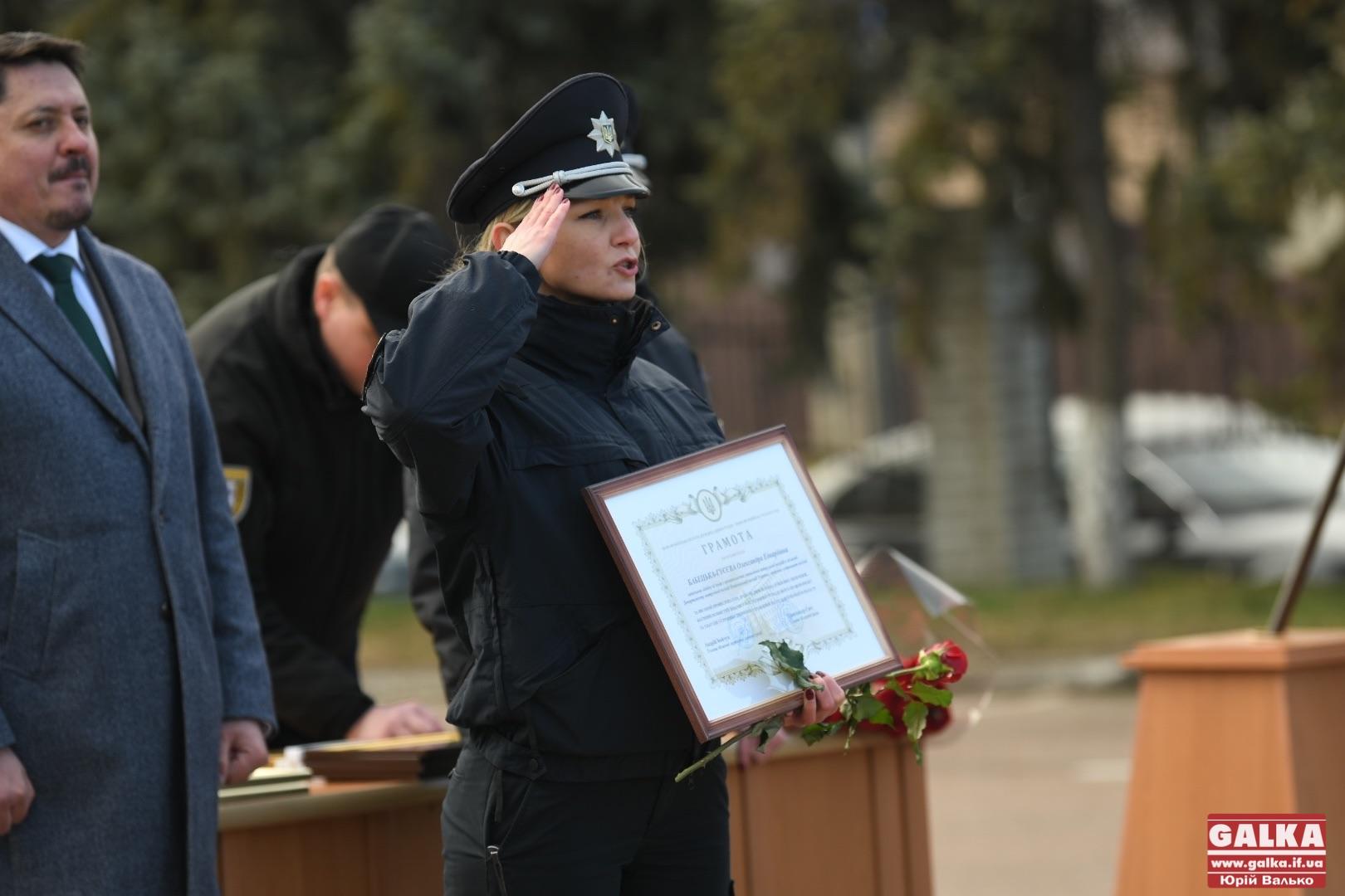 Найкращих патрульних урочисто нагородили до п'ятої річниці роботи на Франківщині (ФОТОРЕПОРТАЖ)