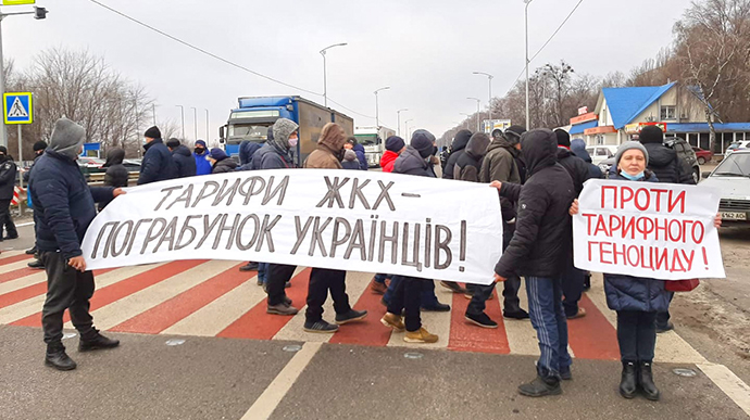 Знову тарифний протест: під Франківськом перекрили дорогу на Львів