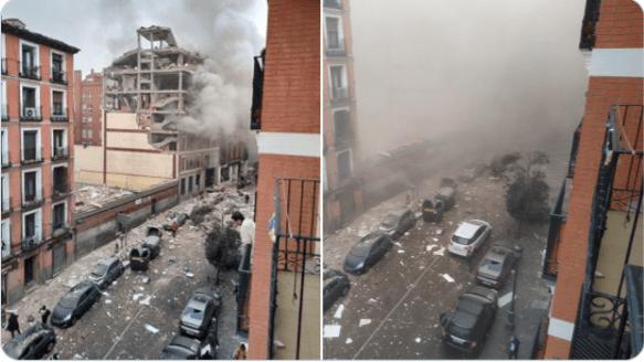 У центрі Мадрида прогримів потужний вибух (ФОТО,ВІДЕО)