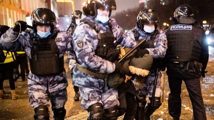 На мітингах у Росії затримали понад три тисячі людей. Це рекорд за весь час президентства Путіна