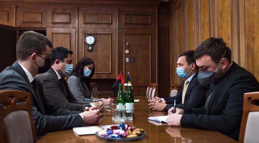 Андрій Бойчук зустрівся із заступником міністра закордонних справ України Євгенієм Єніним