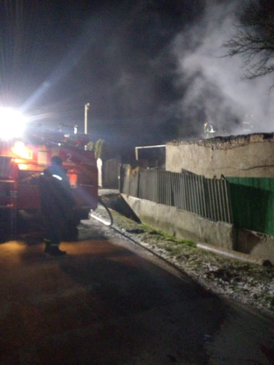 Вночі у Колодіївці гасили пожежу (ФОТО)
