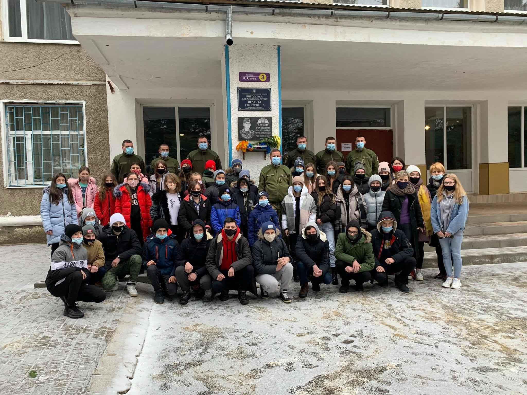 На Долинщині вшанували пам'ять АТОвця, котрий загинув під Дебальцеве (ФОТО)