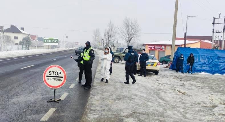Поліція показала та розказала, як працюють карантинні блокпости на Прикарпатті (ФОТО)