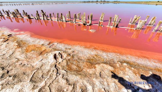 Відоме Рожеве озеро Арабатської Стрілки з'явилося в 3D