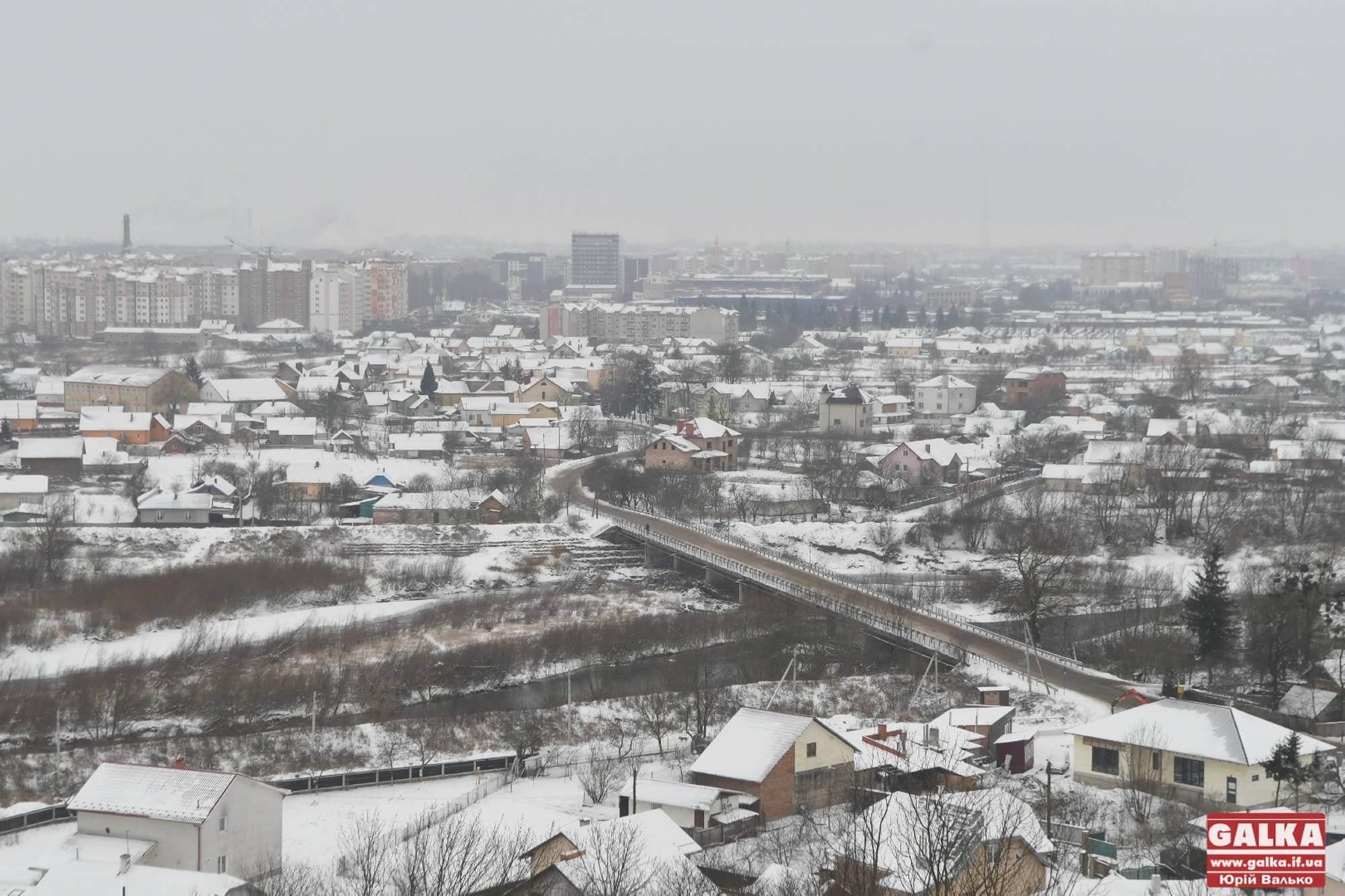 Лютневі види міста з Вовчинців (ФОТО)