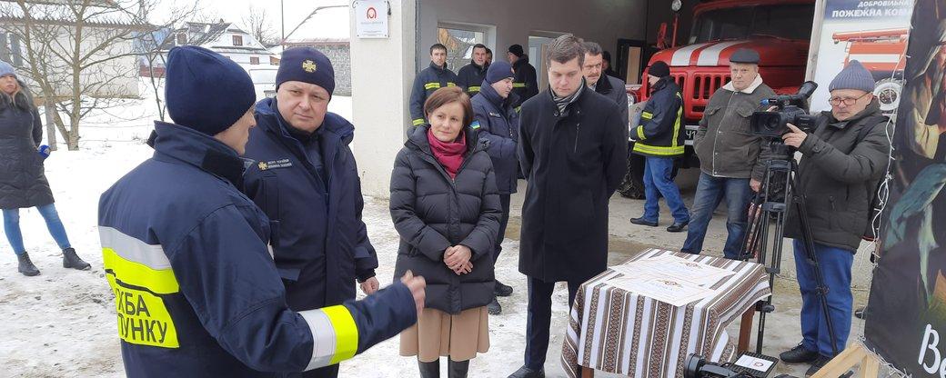 Пожежники-добровольці з Косівщини отримали обладнання від Польщі (ФОТО)