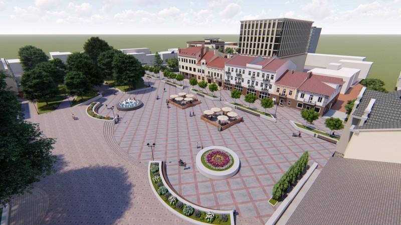У Калуші показали варіант реконструкції центральної площі (ПРОЄКТ)