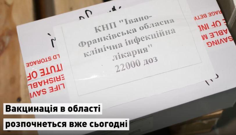 Вакцина від коронавірусу вже на Прикарпатті: хто її отримає в першу чергу? (ВІДЕО)