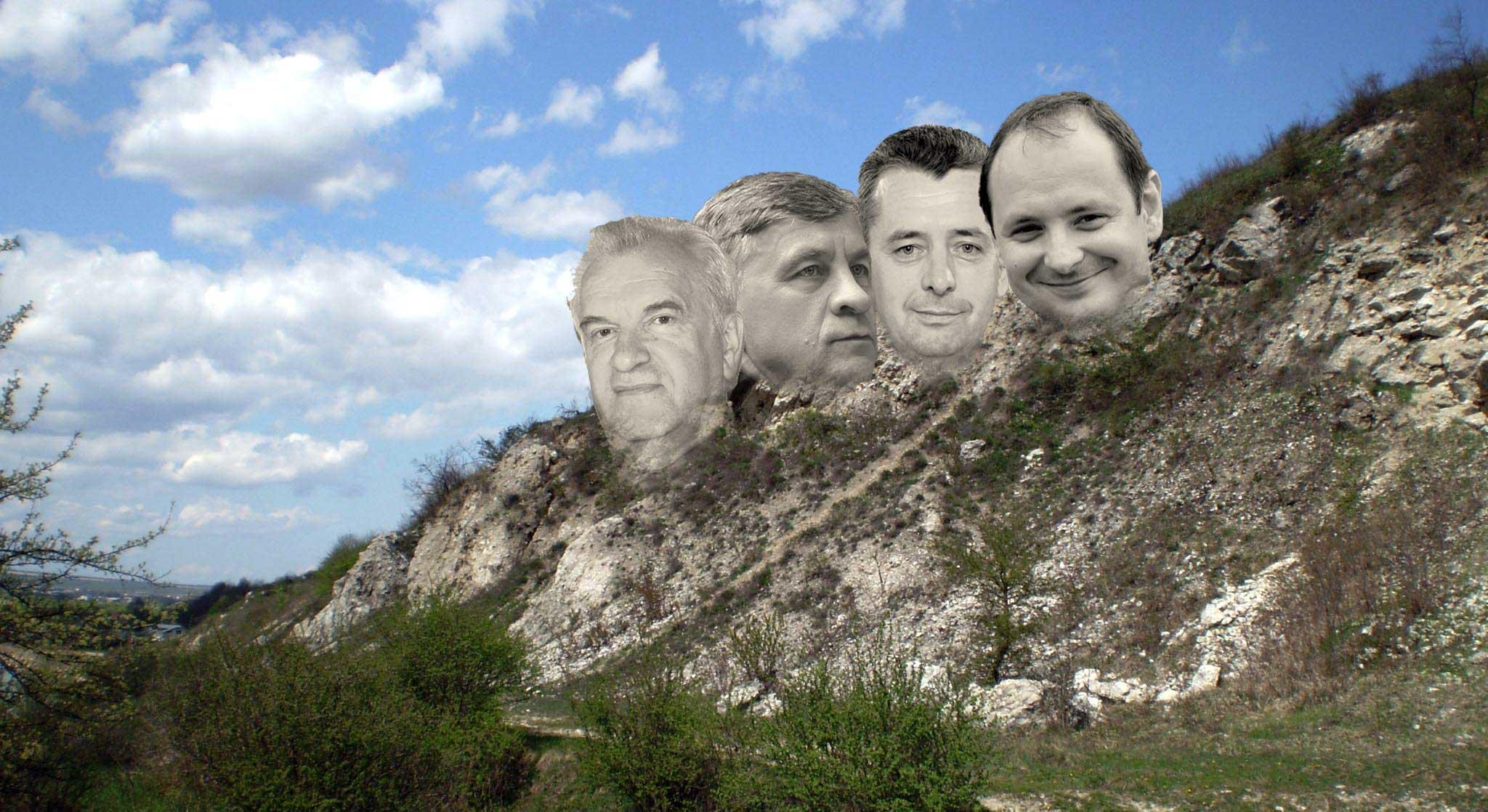 На Вовчинецькому пагорбі висічуть кількаметрові голови мерів Івано-Франківська (ПРОЄКТ)