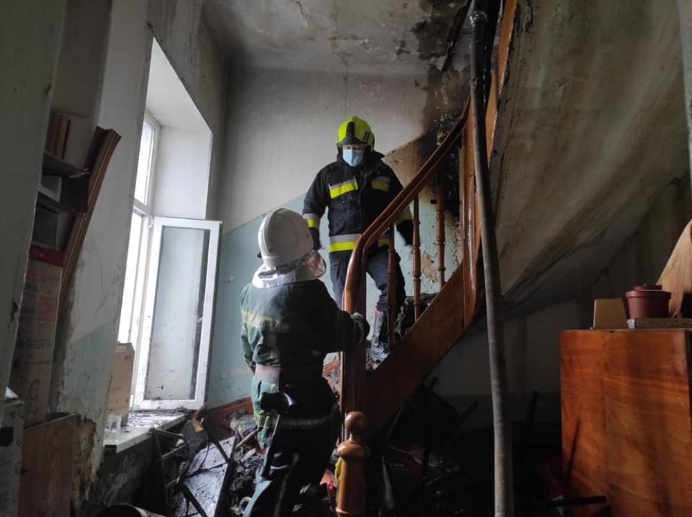 Андрій Бойчук подякував усім фахівцям, які забезпечили евакуацію пацієнтів під час пожежі в Долинській ЦРЛ