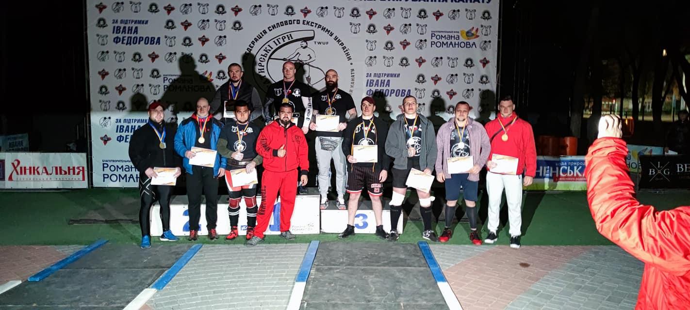 Чемпіон України та ще чотири медалі: прикарпатці показали відмінні результати на Чемпіонаті України серед богатирів (ФОТО)
