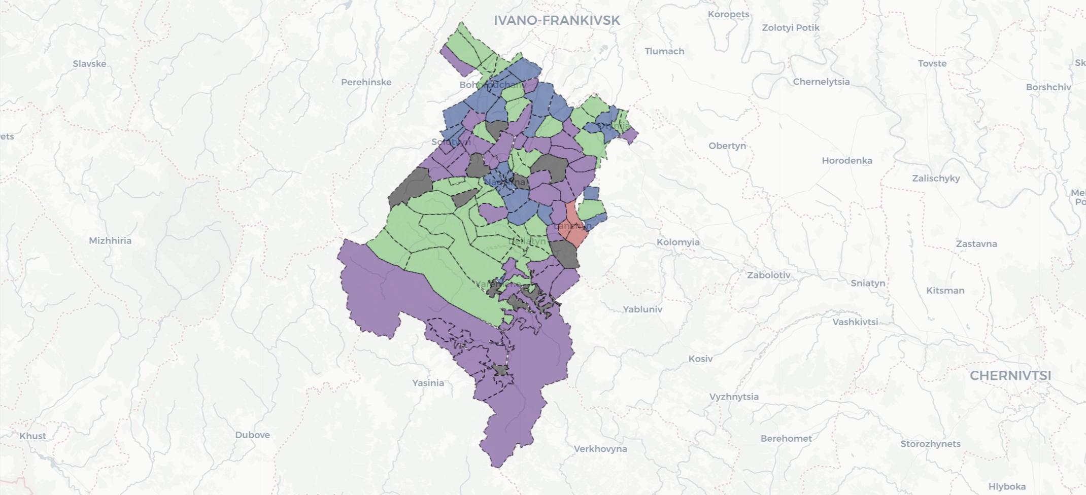 Вибори на окрузі №87: з'явилася мапа з результатами голосування