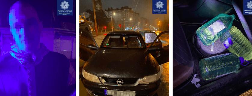 У Франківську спіймали крадія бензину під наркотиками, який ще й вчинив ДТП (ФОТО)