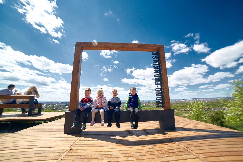 На Вовчинецькому пагорбі відкрили тераси, фотозону та оглядовий майданчик (ФОТО)