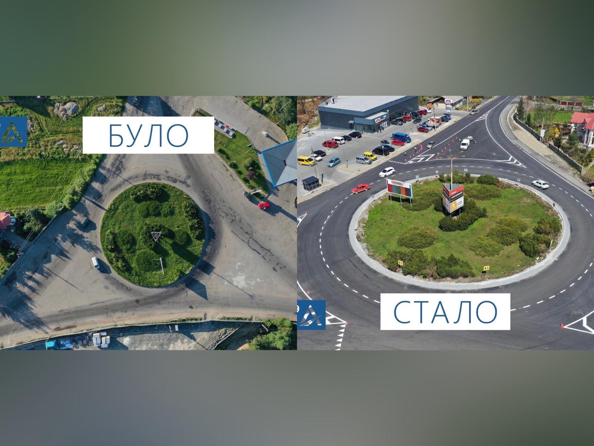У Надвірній завершили оновлення кільцевої розв'язки (ФОТОФАКТ)