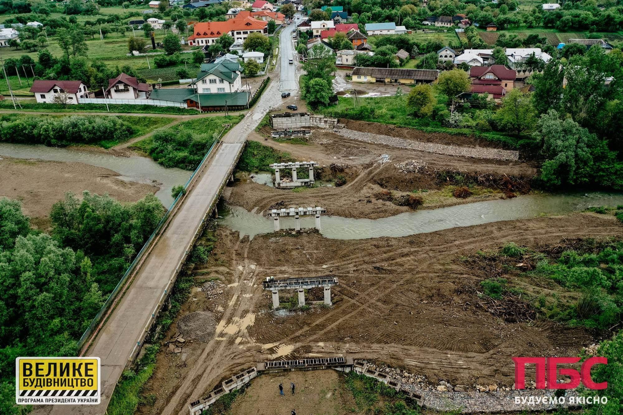 У Рожневі взялися за міст, будівництво якого стартувало понад 10 років тому (ФОТО)