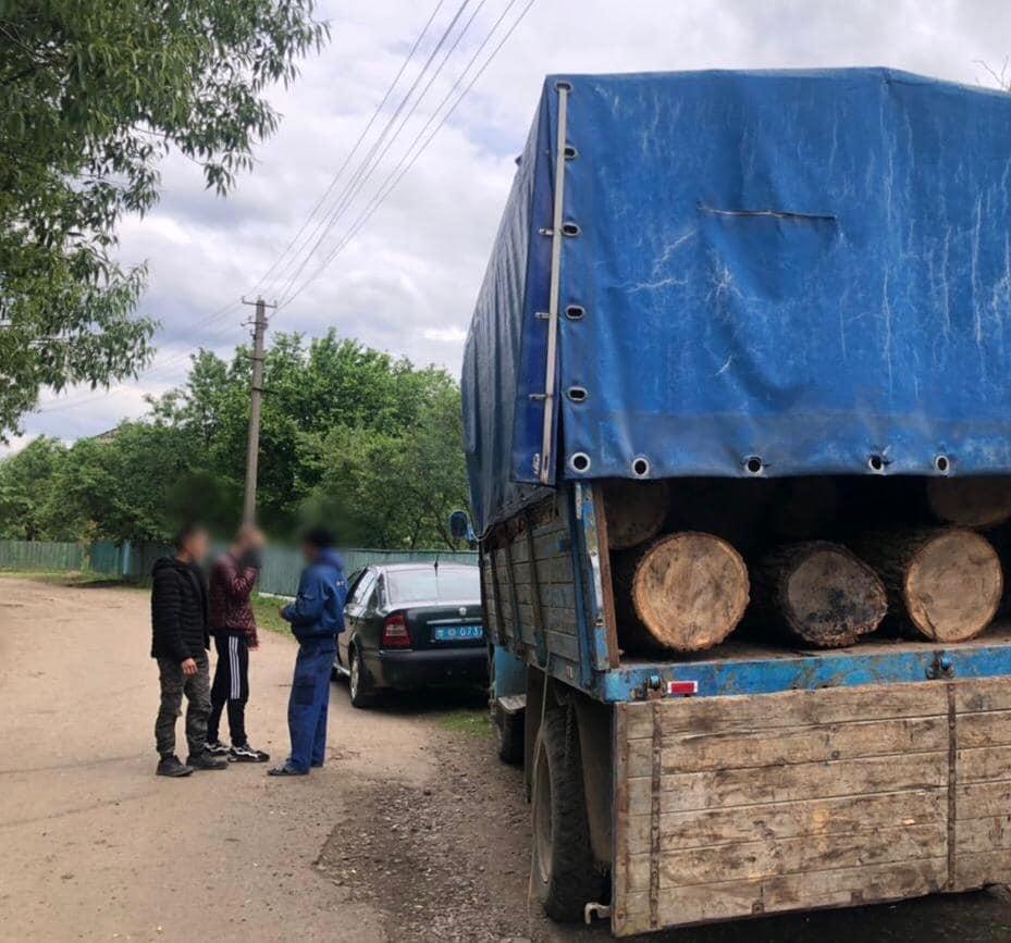 Двоє прикарпатців вкрали деревину з території лісового господарства (ФОТО)