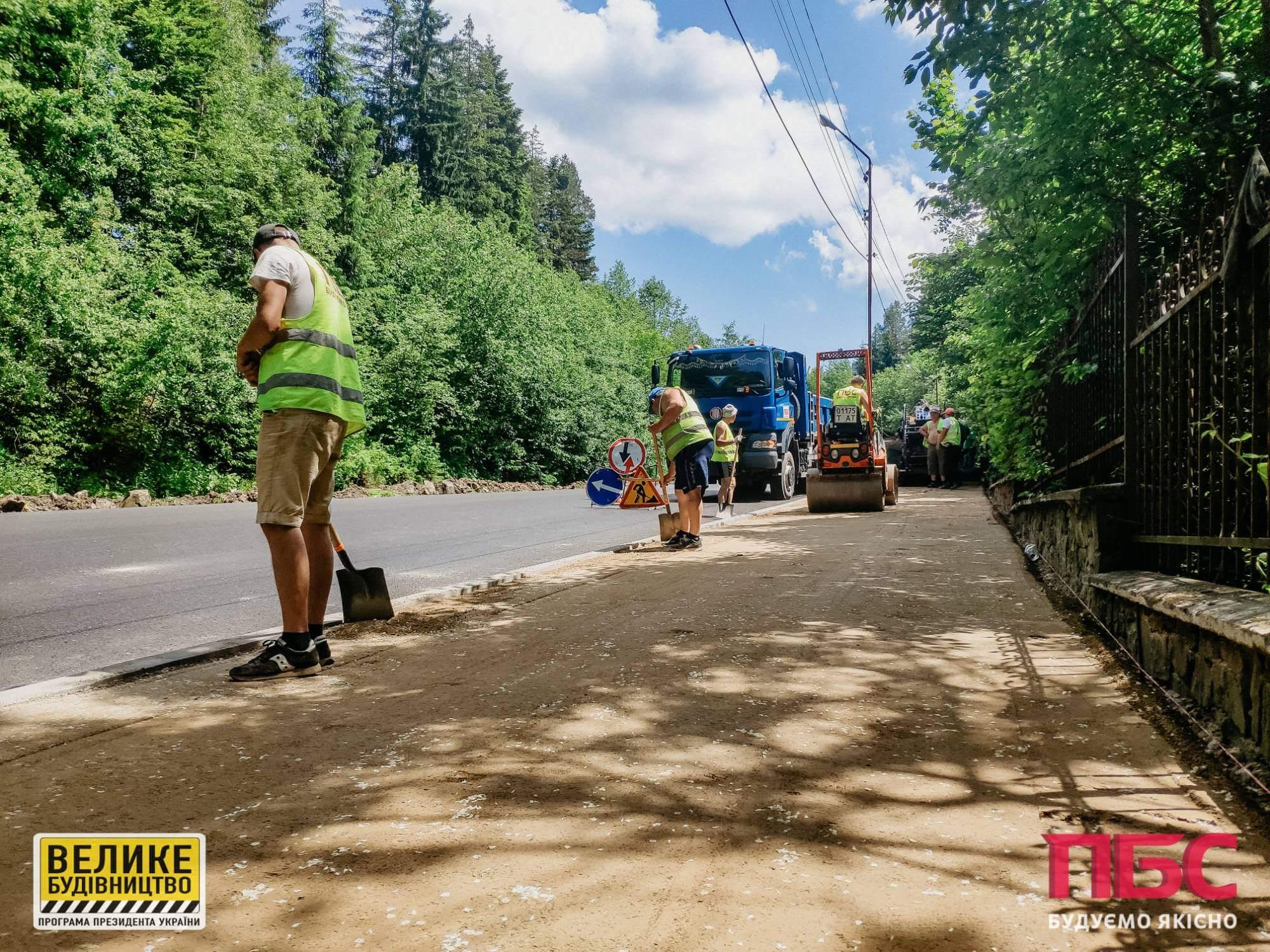 Дорогу державного значення в області продовжують ремонтувати (ФОТО)