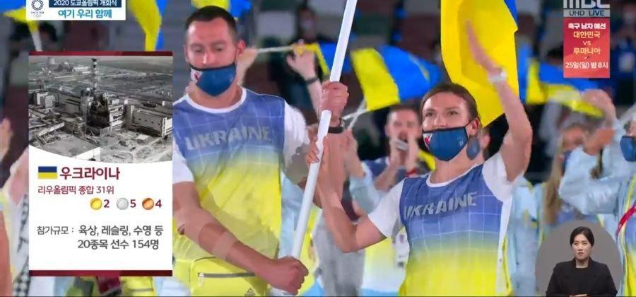 Корейське ТБ презентувало українську збірну на Олімпіаді світлиною з Чорнобиля