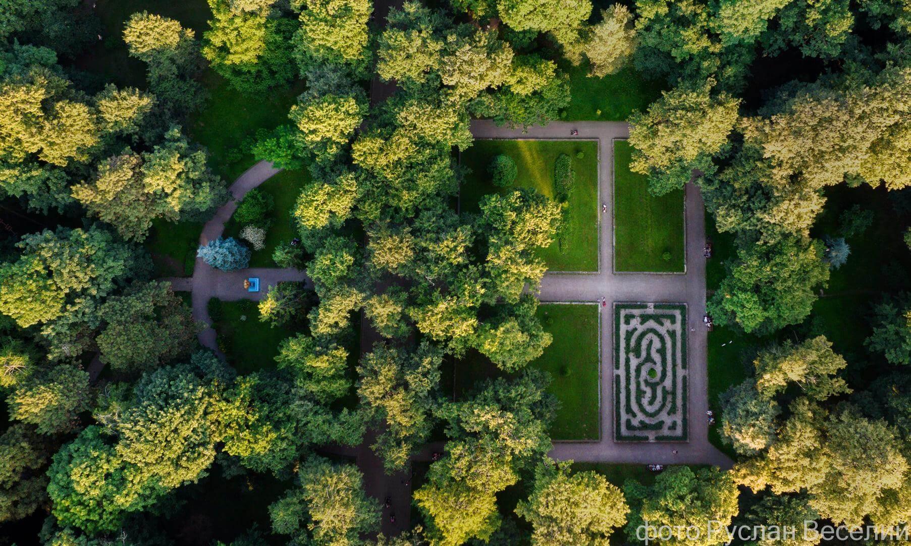 Красу міського парку у Франківську показали з висоти (ФОТО)