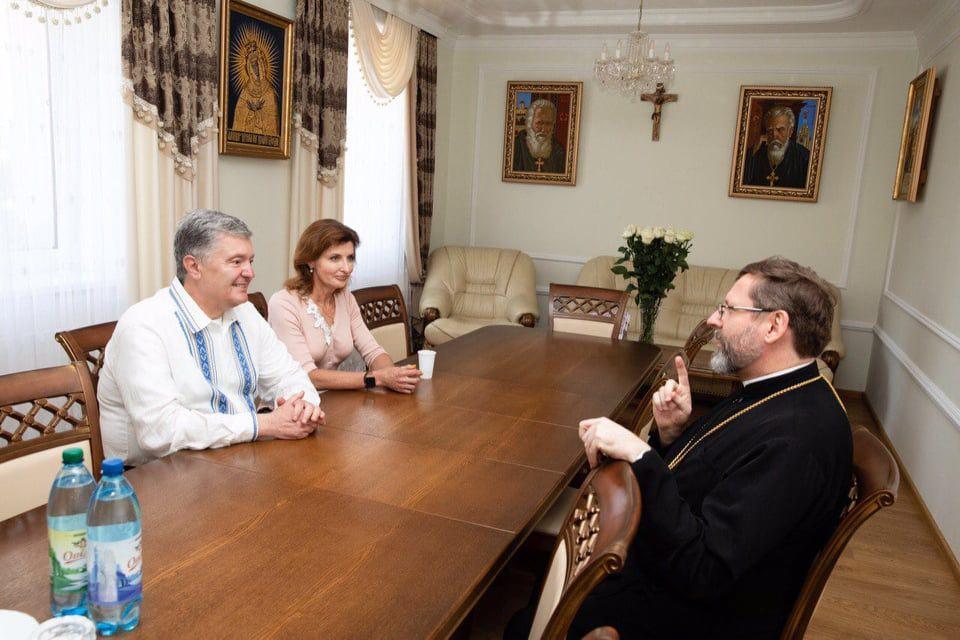 Глава УГКЦ Блаженніший Святослав у Зарваниці подякував Порошенку (ФОТО)