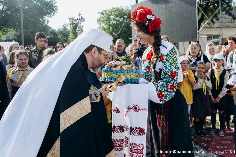У Галичі з хлібом і сіллю зустріли Главу УГКЦ Святослава Шевчука (ФОТО)