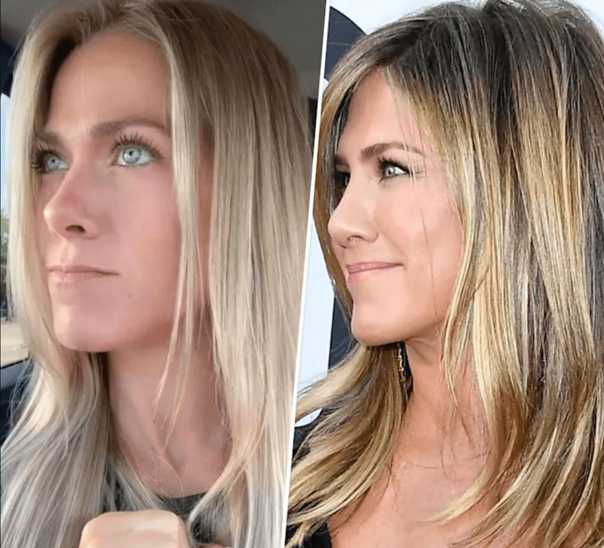 """Неймовірна схожість: в мережі знайшли """"близнючку"""" Дженніфер Еністон (ВІДЕО)"""