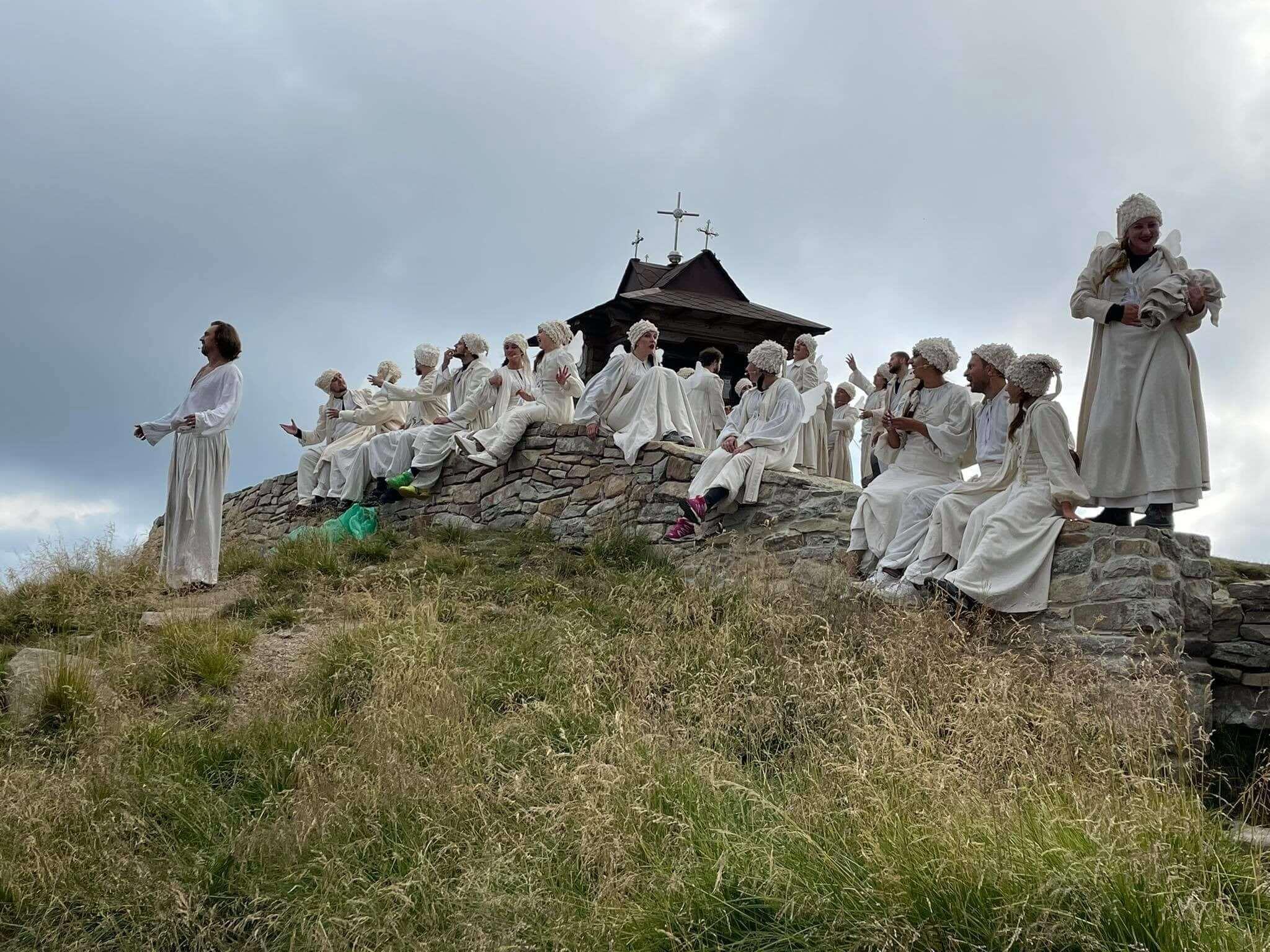 Франківський драмтеатр зіграв «Енеїду» на Попівані (ФОТО)