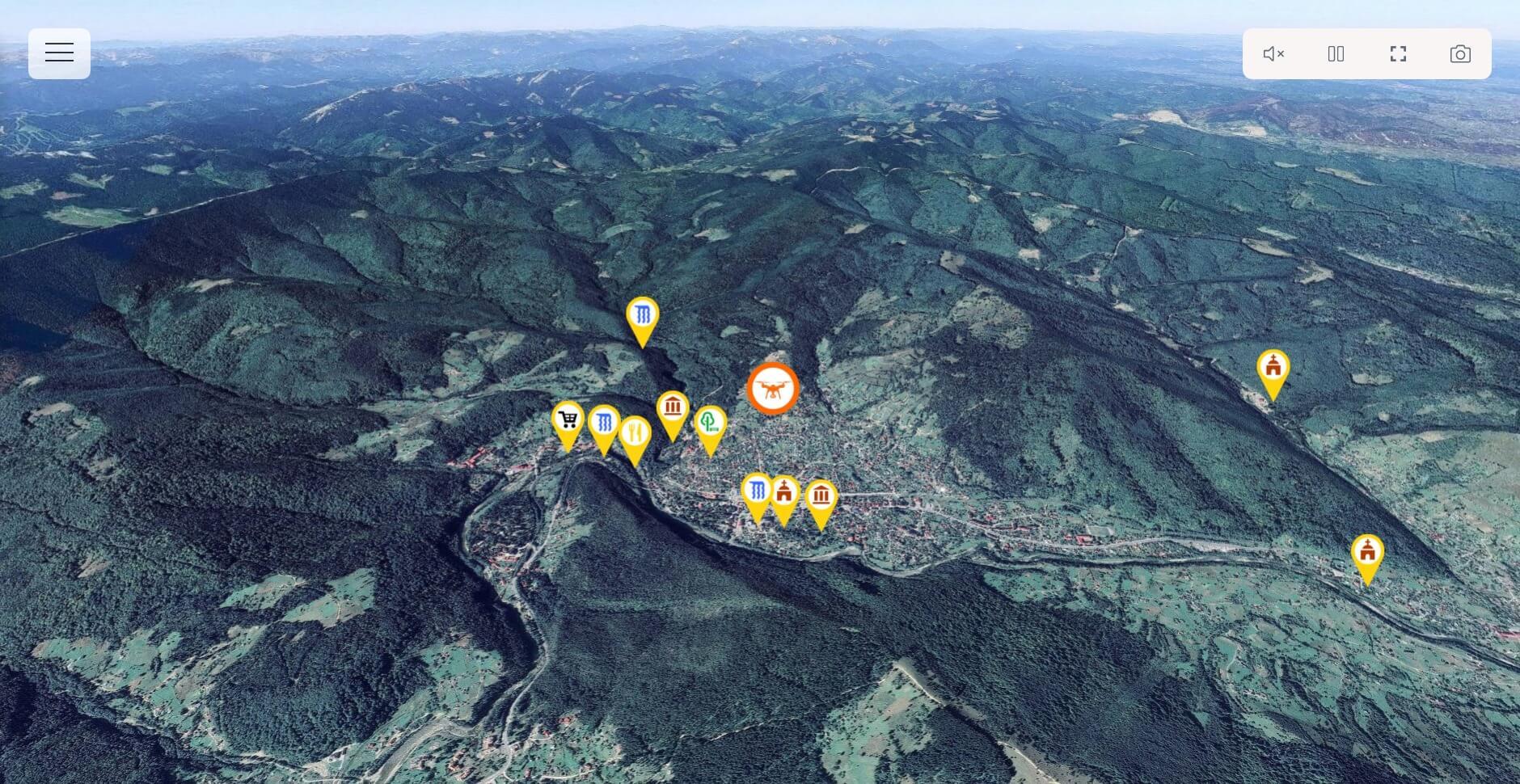 Віртуальну туристичну мапу отримала Івано-Франківщина