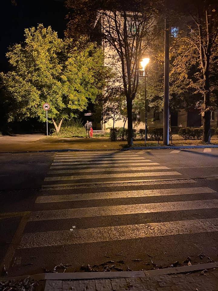 На Північному Бульварі освітили та зробили додаткову розмітку пішохідного біля ліцею №1 (ФОТО)