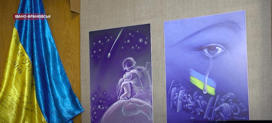 """Франківський художник передав 12 """"Астероїдів"""" в музей визвольної боротьби (ВІДЕО)"""